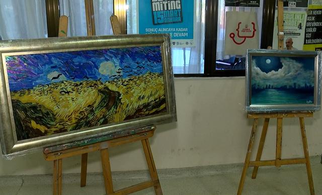 Lösemi tedavisi görürken 1 yıl önce hayatını kaybeden ressam Hüseyin Utku Sakan anıldı